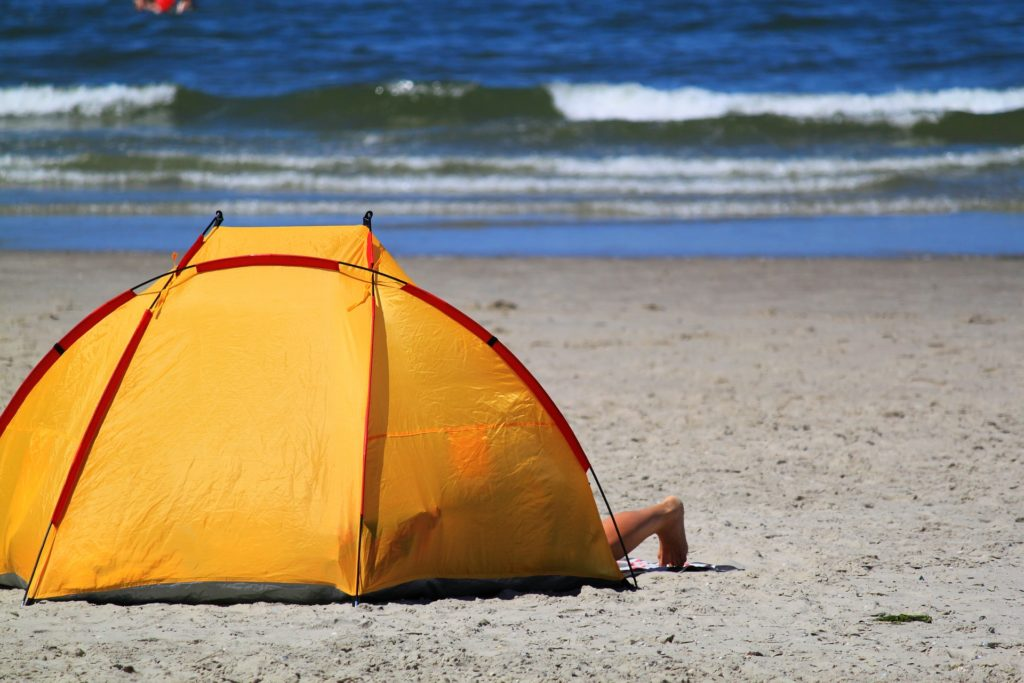 Pop Up Tent for Madeira Beach Day Dolphin Quest
